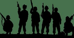 חיילים עומדים
