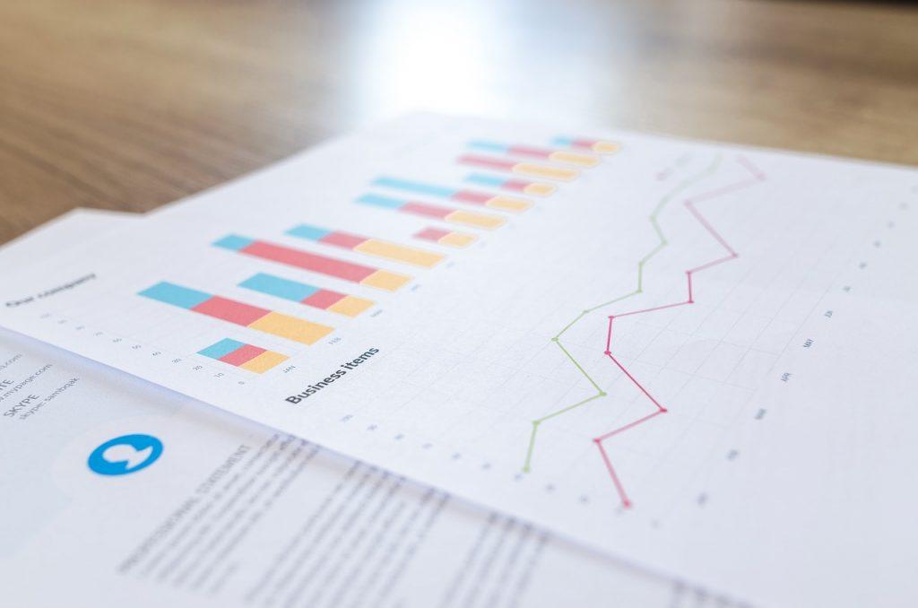 מידע פיננסי בגרפים