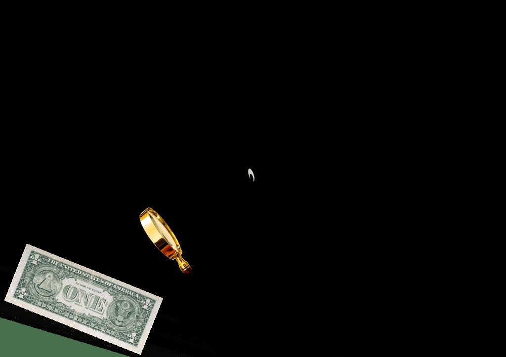 חוקר כסף עם מקטרת